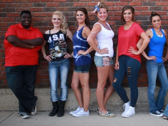 Group shot of finalists of Lakeshore's Rising Stars. Wisconsin Rapids' Karly Tellekson is second from left.