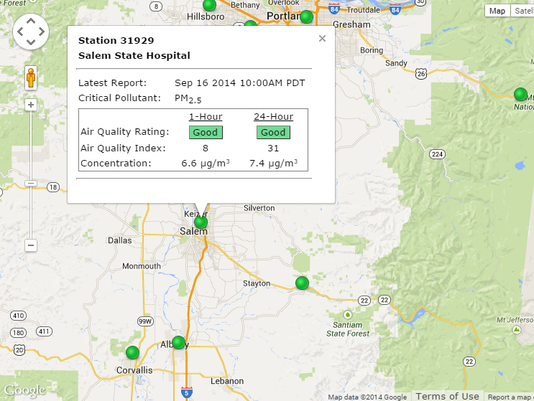 Salem Oregon Map Google.Lingering Smoke To Vacate Salem Area By Evening