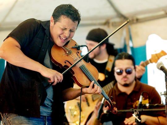 Patrick Contreras plays at the Visalia All Music Festival.