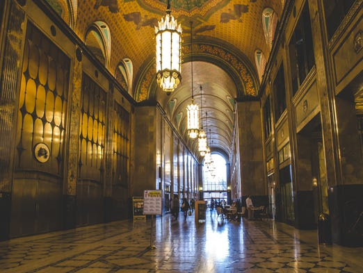 The stunning interior of the Fisher Building in Detroit