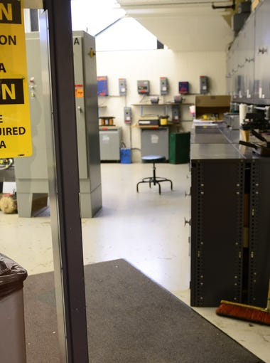 Terra State Community College motor controls lab where students learn industrial automation using components and wiring.
