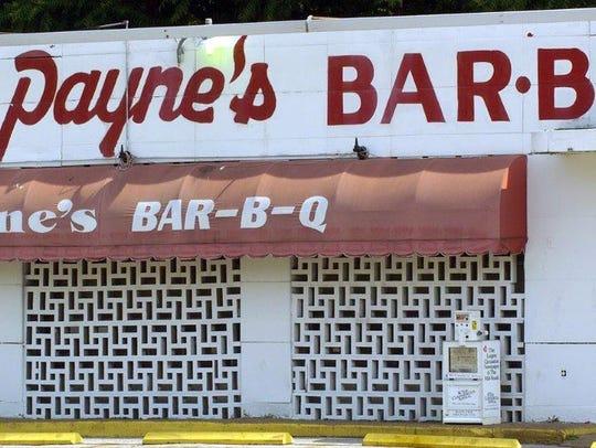 Payne's Bar-B-Q sign