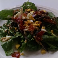 This salad with bacon and egg is easily improved with fresh ingredients.