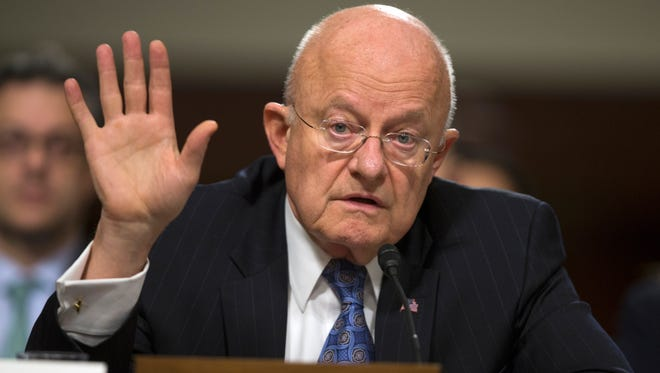 Director of National Intelligence James Clapper testifies on Capitol Hill in Washington on Feb. 9, 2016, before a Senate Armed Services Committee hearing on worldwide threats.