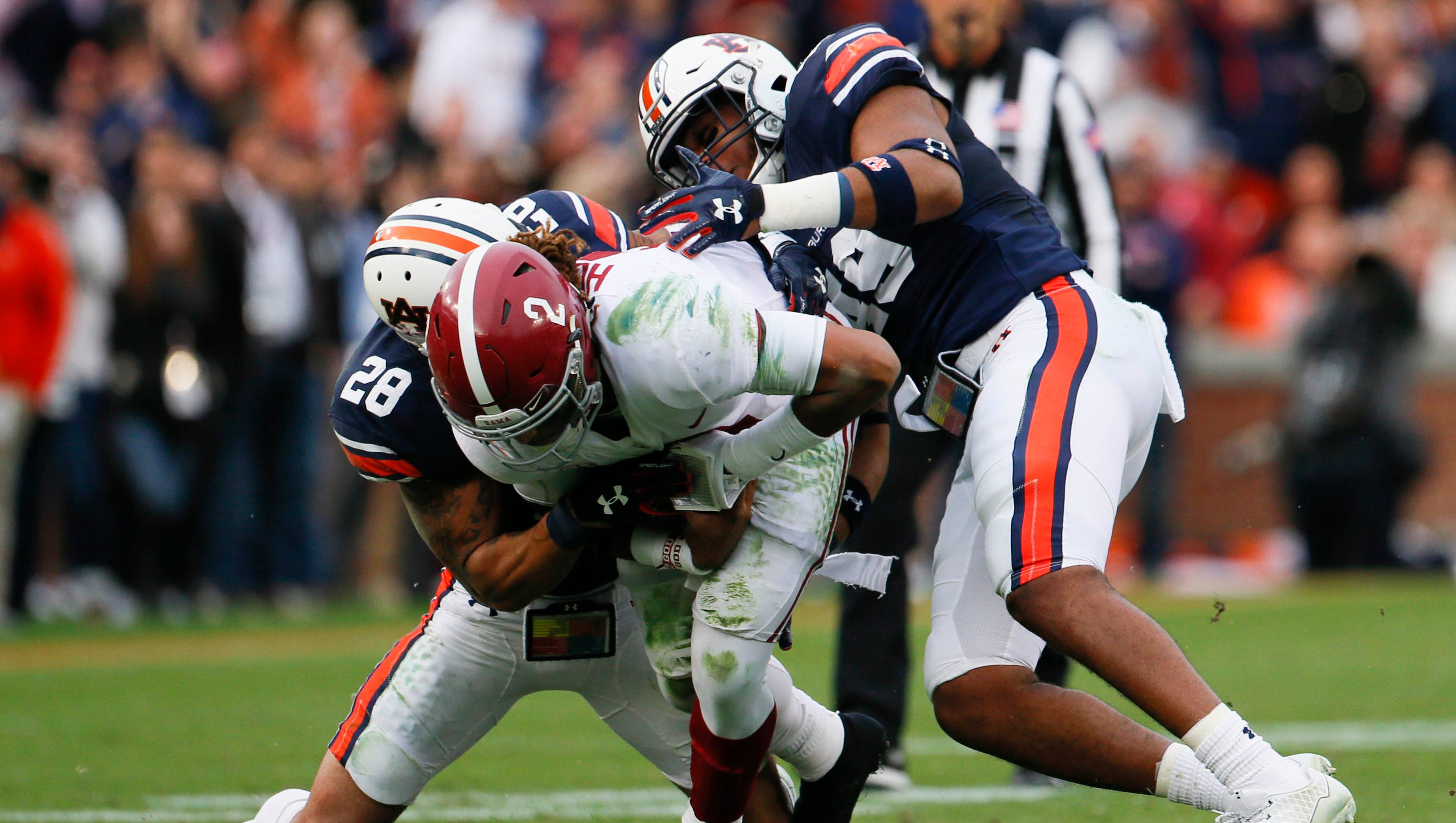 Auburn knocks off Alabama clinches spot in SEC title game