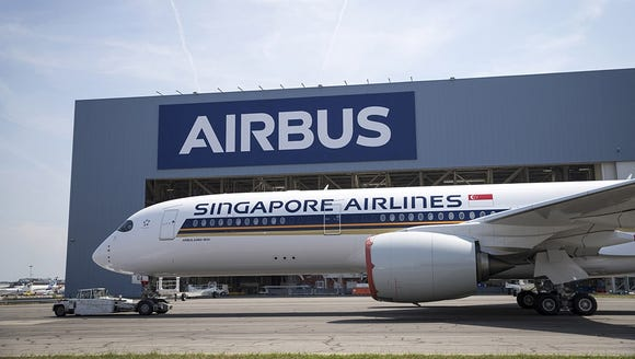 """The first of seven Airbus A3500-900 """"ULRs"""" rolled out"""