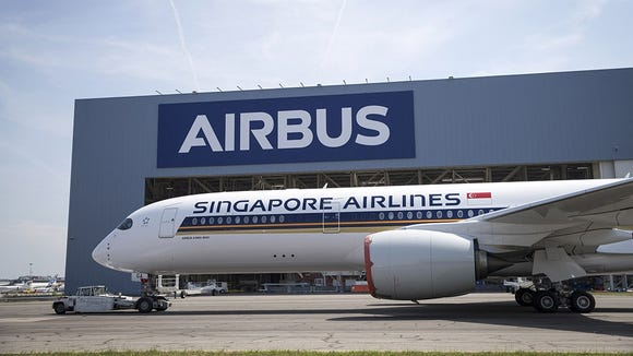 "The first of seven Airbus A3500-900 ""ULRs"" rolled out"