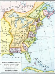 From the Mississippi to the Apalachicola River was West Florida, and everything else was East Florida. Pensacola was the capitol of the colony of West Florida and St. Augustine the capital of East Florida.