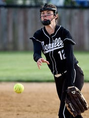 Booneville's Arielle Blankenship pitches  during the