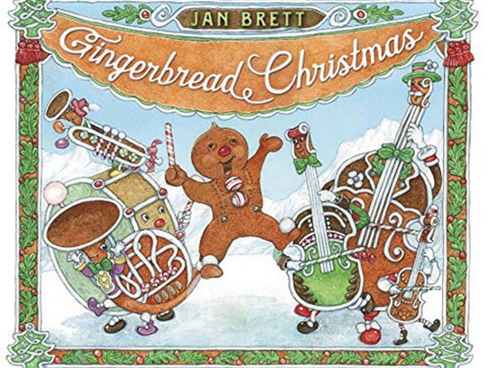 "Jan Brett's October 2016 book, ""Gingerbread Christmas."""