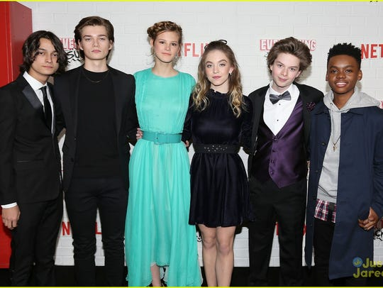 Quinn Liebling (second from right) attends the New