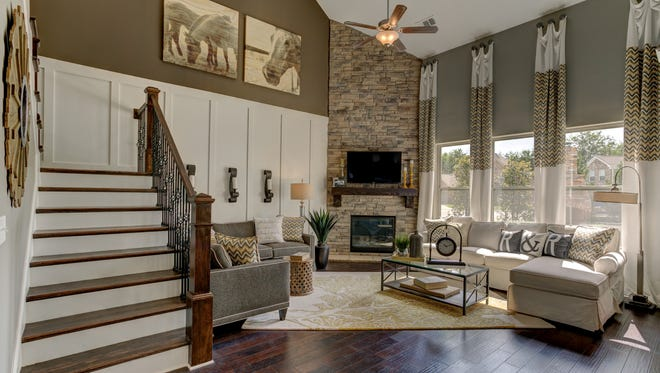 The Brixworth by Lennar has an open floorplan that offers families ample room for together time.