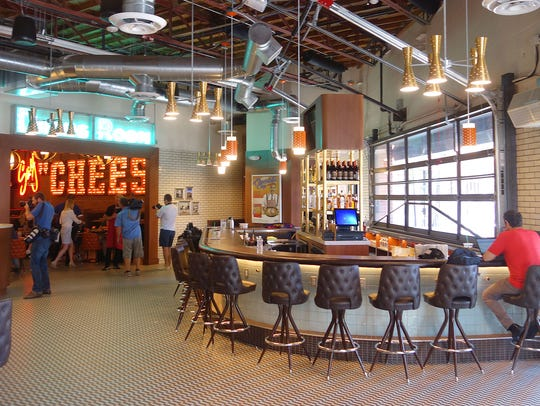 The interior of the new Lou Malnati's Pizzeria in Phoenix