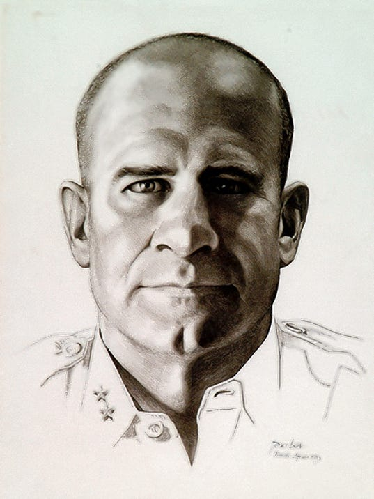 Tom Lea painted this portrait of Jimmy Doolittle in 1943.