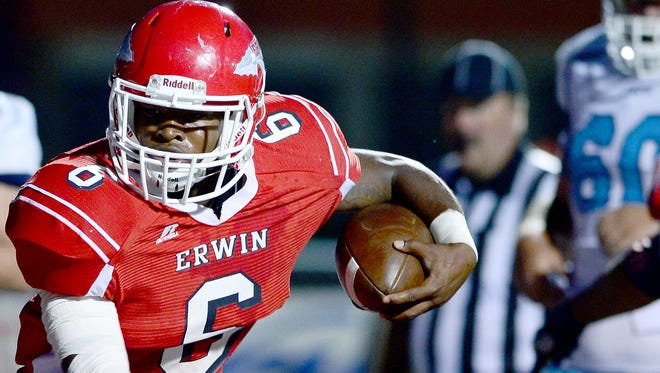 Erwin's Isaiah Poore rushed for 1,086 yards in 2016.