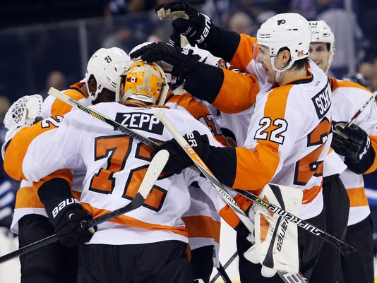 NHL: Philadelphia Flyers at Winnipeg Jets