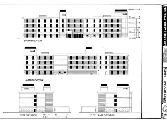 This design shows the proposed Home2 hotel that hotelier Nick Patel wants to build in Redding.
