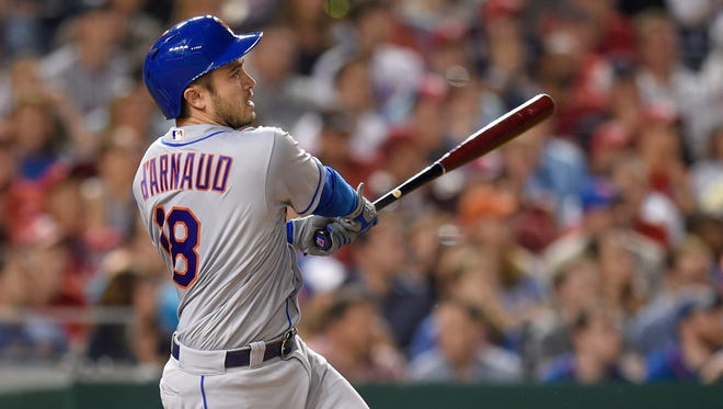 New York Mets' Travis d'Arnaud has been placed on the 10-day disabled list with a bruised right wrist, the latest setback for a New York team beset by several key injuries already this season.