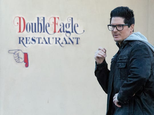 The Travel Channel's Ghost Adventures host Zak Bagans is pictured  on Tuesday, January 10, 2017 as the cast and crew film at the Double Eagle Restaurant and around the Mesilla Plaza.