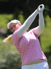 Brittany Lincicome, one of the game's longest drivers, put her drive on No. 9 into a fairway bunker, but managed to scramble and birdie the hole, the first of five consecutive birdies. Lincicome ended the third round at 6-under.