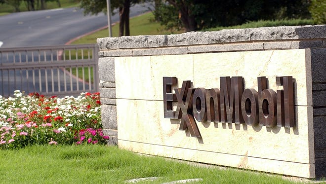 The entrance of Exxon Mobil cooperate headquarters in Irving, Texas.