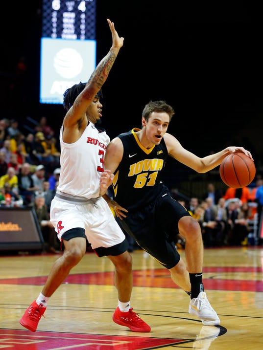 NCAA Basketball: Iowa at Rutgers