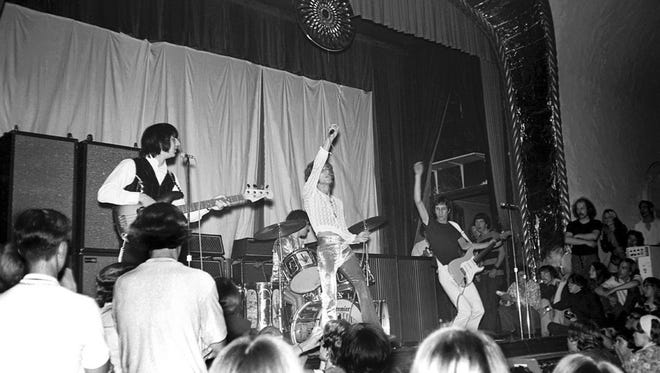 The Who playing at the Grande Ballroom in the late 1960s.