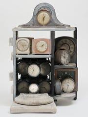 Betye Saar, Still Ticking, 2005. Mixed media assemblage,