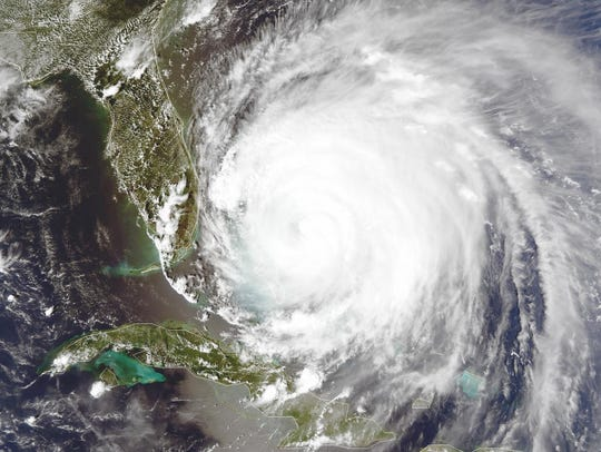 Hurricane Frances approaches Florida in 2004.