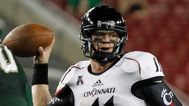 Cincinnati quarterback Brendon Kay has completed 71.7% of his throws in the last 10 quarters of action.