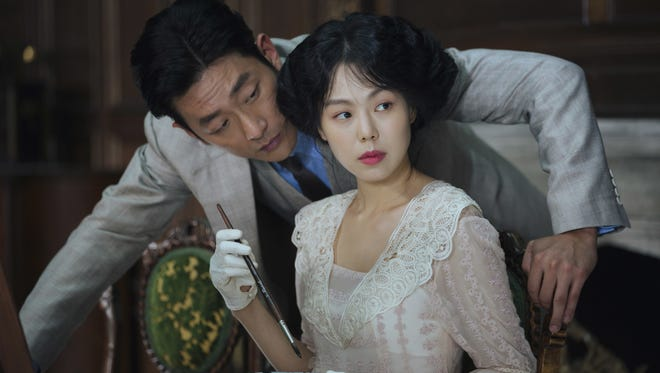 "Ha Jung-woo and Kim Min-hee star in Park Cahn-wook's ""The Handmaiden."""