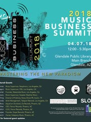 Music Business Summit poster