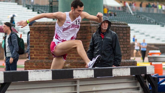 Will Sponaugle, of Palmyra, is competing in the 3,000-meter steeplechase for St. Joseph's University this spring.