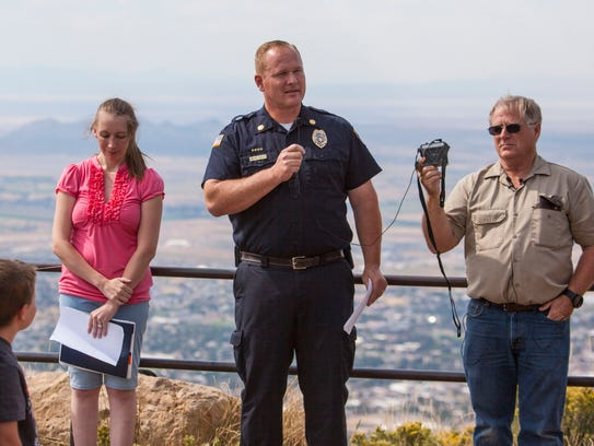 Cedar City Fire Chief Mike Phillips speaks at the Southwest