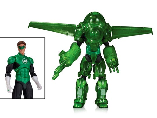 The Hal Jordan action figure sports Green Lantern power
