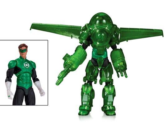 The Hal Jordan action figure sports Green Lantern power