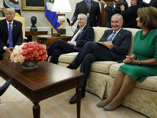 Donald Trump,Chuck Schumer,Mitch McConnell,Nancy Pelosi