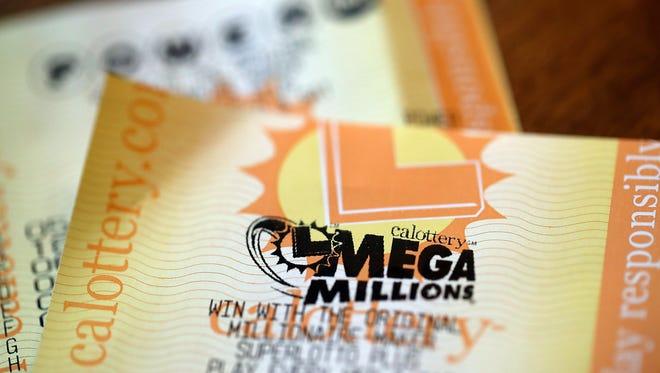 A Mega Millions lottery ticket.