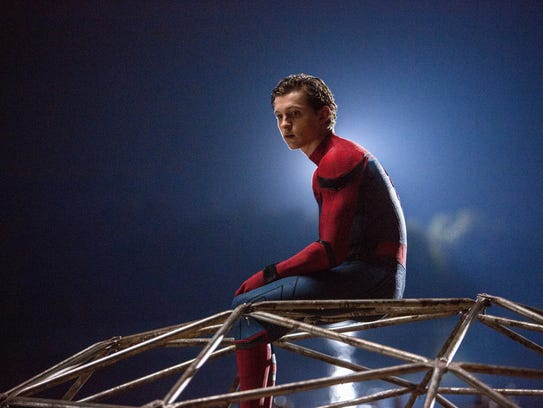 """Tom Holland appears in a scene from """"Spider-Man: Homecoming."""""""