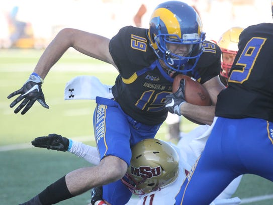 Angelo State University wide receiver Tate Kennedy