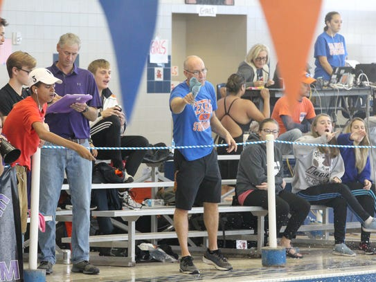 Central High School head swimming coach David Hague