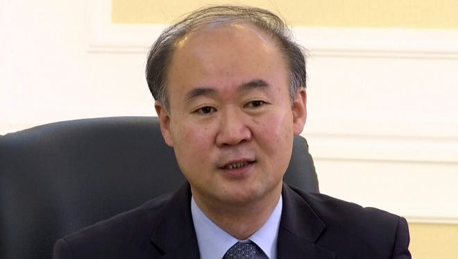 In this image made from video, Pang Kwang Hyok, vice director of the department of international organizations at the North Korean Ministry of Foreign Affairs, speaks during an interview with The Associated Press Television in Pyongyang, North Korea, Monday, Oct. 24, 2016.