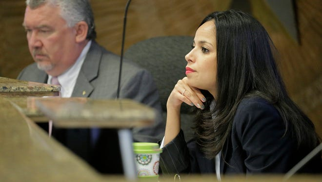 City Rep. Claudia Ordaz faces an ethics complaint by Barbara Carrasco, who raised questions about Ordaz texting County Judge Veronica Escobar during an executive session.