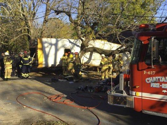 APTOPIX Chattanooga Bus Crash