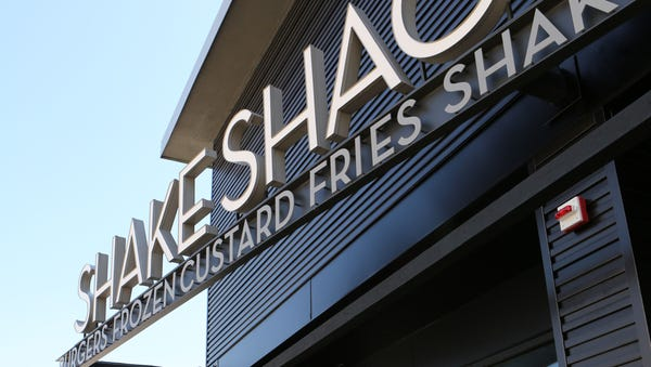 The exterior of the new Shake Shack opening in...
