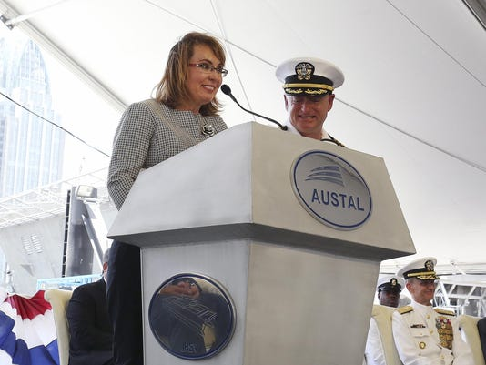 LCS Gabrielle Giffords Christening
