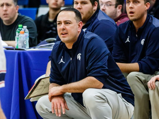 Brookfield East boys varsity basketball coach Joe Rux