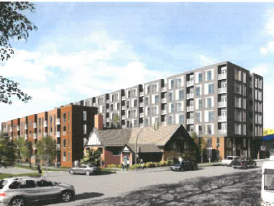 A rendering of the Augusta Place development, with