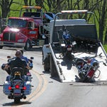 One person was killed in a motorcycle accident on Kentucky Route 8 near Rabbit Hash Saturday.