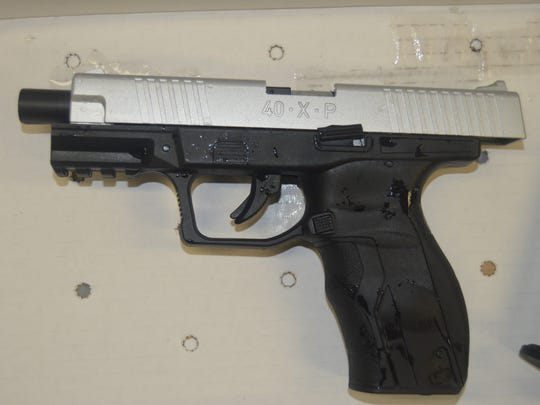 Nathan Giffin, the bank robbery suspect shot and killed outside Montpelier High School on Tuesday, Jan. 16, 2018, was carrying this weapon at the time nine officers opened fire on him, state police said Wednesday. The weapon is a BB gun, a Umarex 40XP BB pistol.